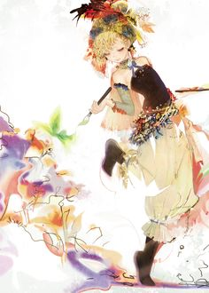 Relm Arrowny is a playable character in Final Fantasy VI. She is a talented artist, and she can make her paintings come alive with magic. Final Fantasy Vi, Final Fantasy Artwork, Manga Art, Manga Anime, Character Art, Character Design, Fanart, Art Design, Oeuvre D'art
