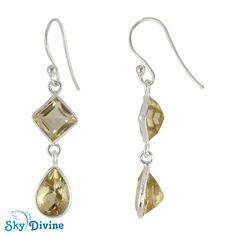 Sterling Silver Citrine Earring SDER2184 Sky Divine Jewellery, $42.60