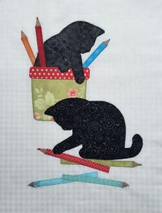 (7) Name: Quilting : B.O.M. 2016 Kitty Craft, Blocks 2A, B, C