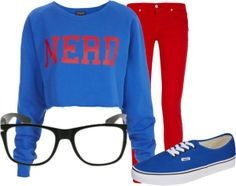 """'Nerd' Outfit"" by thalo-blue-skies ❤ liked on Polyvore"