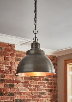Our stylish Brooklyn Vintage Metal Dome Pendant Light by Industville is a beautifully hand crafted dome shaped ceiling fitting in a dark pewter & copper finish.
