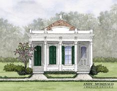 Greek Revival Portico Downhome Perspective on All Things