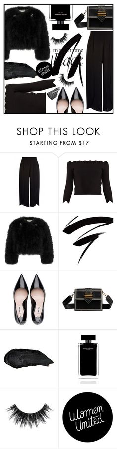 """""""all black"""" by lovedreamfashion ❤ liked on Polyvore featuring Alexander McQueen, Erdem, Narciso Rodriguez, Sisley, black, allblack and allblackoutfit"""