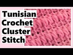 Tunisian Crochet Cluster Stitch - Learn How to Crochet with Darlene Learn the fact (generic term) of Quick Crochet, Learn To Crochet, Irish Crochet, Knit Crochet, Lace Knitting, Crochet Granny, Crochet Cluster Stitch, Tunisian Crochet Patterns, Knitting Patterns