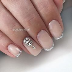 The wedding manicure - the beauty of the bride is in the smallest details - My Nails Wedding Manicure, Wedding Nails Design, Gorgeous Nails, Pretty Nails, Natural Wedding Nails, Bride Nails, Latest Nail Art, Manicure Y Pedicure, Nail Decorations