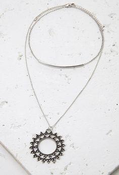Cutout Medallion Necklace Set | FOREVER21 - 1000097501