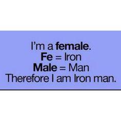 Iron man. I resonate with this :-)