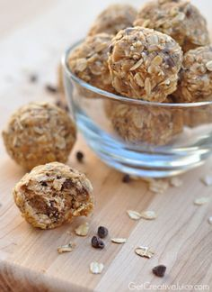 These no-bake, bite-sized Peanut Butter Oatmeal Energy Bites are great to grab when you need a quick and healthy on-the-go snack.