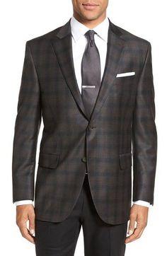 'Flynn' Classic Fit Plaid Wool Sport Coat
