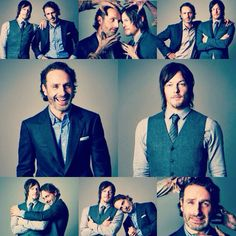 Andrew Lincoln and Norman Reedus as Rick Grimes and Daryl Dixon in The Walking Dead