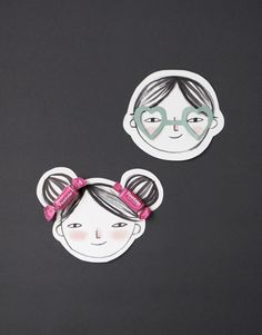 Super cute DIY Valentines with printable faces for the kids!