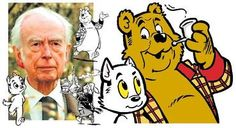 """Marten Toonder, creater of """"Tom Poes"""" and """"Heer Bommel"""". Looks like books for children but it's not. Very entertaining and always whit a clue/moral in it. Dutch Language, Olie, New Words, Comic Artist, Comic Strips, Writers, Toms, Cartoons, Animation"""