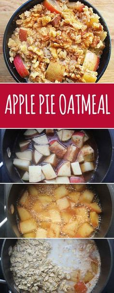Simmer chopped fruit in apple juice, then add your oats to make oatmeal that tastes like pie.