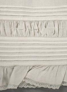 1863 Drawers detail, American or European; Metropolitan Museum of Art. Note crochet/Cluny lace.