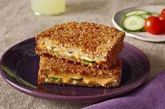 Jalapeño Popper Melt recipe - How do you make jalapeño poppers even better? Make them into a sandwich! Jalapeño Cheddar adds spice, while crushed pretzels add crunch.