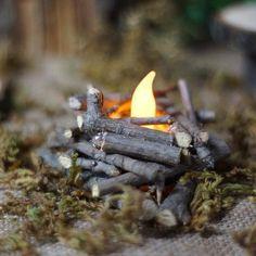 Mini Fire Pit Fairy Garden Cottage Miniature by GFTWoodcraft Fairy Tree Houses, Fairy Garden Houses, Garden Cottage, Forest Garden, Forest Cottage, Garden Paths, Fairy Garden Furniture, Fairy Garden Supplies, Gardening Supplies