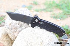 Gerber has reduced the weight of the best-selling 06 Automatic knife with the addition of G10 handles. The S30V steel blade offers great edge retention and corrosion resistance. This fully automatic knife is easy to grip and has a pommel designed as a strike point for emergency egress. Check it out: http://www.osograndeknives.com/catalog/automatic-opening-knives/gerber-30-000193-06-auto-tanto-g-10-handle-comboedge-3923.html