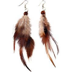 70's Feather Earrings on Sale for $3.99 at HippieShop.com ($3.95) ❤ liked on Polyvore featuring jewelry, earrings, earrings jewelry, feather earrings and feather jewelry