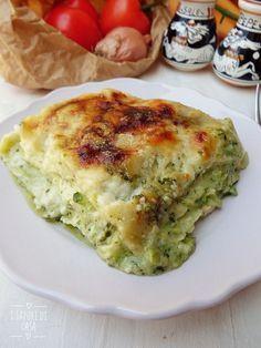 Lasagne al pesto e zucchine Pesto, Lasagna, Quiche, Pizza, Cooking, Breakfast, Food, Mozzarella, Vegetarian