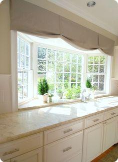 kitchen garden window, this is what my new kitchen window needs Kitchen Window Treatments, Kitchen Bay Window, Kitchen Sink Window, Home, Kitchen Remodel, Kitchen Garden Window, Painting Kitchen Cabinets, Windows, House