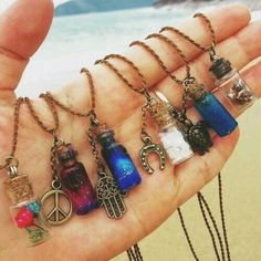 Colorful Hippie Style Pendants, Bohemian Chic Jewelry, Boho Necklace, Peace and flowers jewelry ideas, Gypsy pendants, Hippy fashion accessories