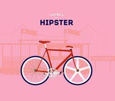 Hipster Bicycle #minimal