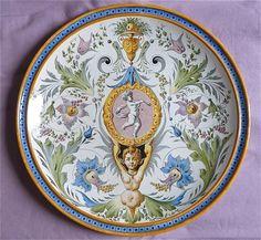 GINORI LARGE PLATE ITALIAN MAJOLICA & Artistic Italian Pottery wall plate cm. 70 d. | Pottery/Painting ...