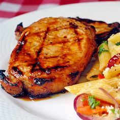 Honey and Orange Glazed Grilled Pork Chops - Rock Recipes