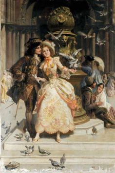 Scena Galante by Giacomo Mantegazza (Italian 1853-1920)