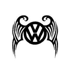 volkswagen logo tribal