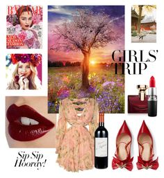 #2 by karolinaborowska on Polyvore featuring polyvore, fashion, style, Zimmermann, Gucci, Charlotte Tilbury, MAC Cosmetics, Bulgari, Ÿù, clothing, girlstrip and WineTastingOutfit