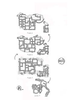 Ruined-castle, Floor plan, rpg map, kosmic dungeon