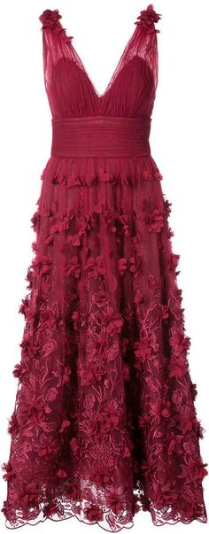b2594775402 Marchesa Notte embroidered floral-appliquéd dress Sparkly Mini Dress