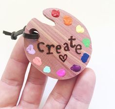 Soulmade Goods | 'Create' Paint Palette Keychain