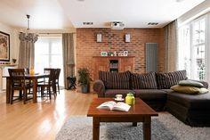 ceglane ściany #interiordesign #polishinteriordesign #2016trends see more: dom-wnetrze.com