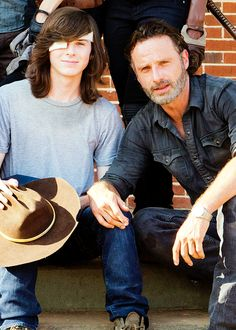 chandler riggs and andrew lincoln(: Carl The Walking Dead, The Walk Dead, Walking Dead Tv Series, The Walking Dead 3, Chandler Riggs, Carl Grimes, Andrew Lincoln, Norman Reedus, Twd 7