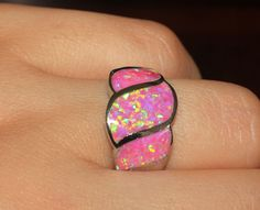 pink fire opal ring Gemstone silver jewelry Sz 8 exquisite modern style D38R4