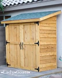 Build a New Storage Shed with One of These 23 Free Plans: Small Cedar Fence Picket Storage Shed Plan