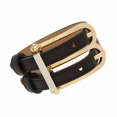 Balenciaga Leather 'B' Bracelet at Barneys.com
