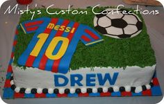lionel messi birthday cake....maybe something like this with Ronaldo number 7....