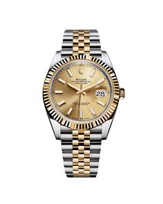 Rolex Oyster Perpetual Datejust 41.  The new Rolex Datejust 41 features an updated design in a 41 mm case in yellow Rolesor, combining 904L steel with 18 ct yellow gold, and the new Rolex calibre 3235, a movement at the forefront of watchmaking technology.