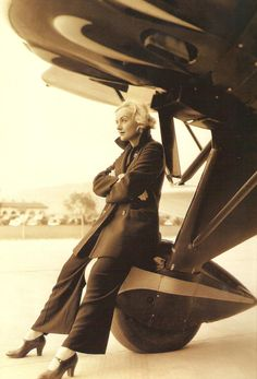 Carole Lombard.    How ironic that she was killed in a plane crash.