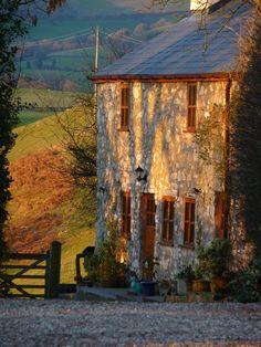 Beautiful old stone cottage - afternoon shadows