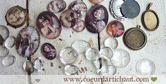 Cabochons transparents et bijoux rétro, techniques et astuces par Coeur d'artichaut