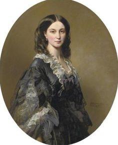 Portrait of Princess Elizaveta Alexandrovna Tchernicheva, 1858  Franz Xaver Winterhalter