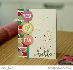 Hello card by Rachel Izakowicz for Elle's Studio