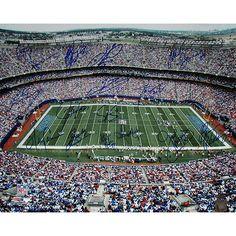 NY Giants Greats Multi Signed 'Stadium Shot' 16x20 Photo (16 Sig)
