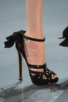 black nail polish with these sexy Dior shoes