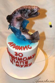 Fish cake Trout cake Торт для рыбака Торт рыба Форель