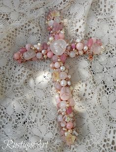 "8"" Beaded Wire Wall Cross by RustiqueArt by rustiqueart, via Flickr"